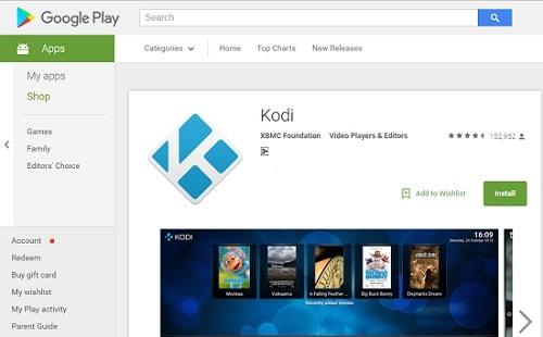 Kodi Download from Google Play